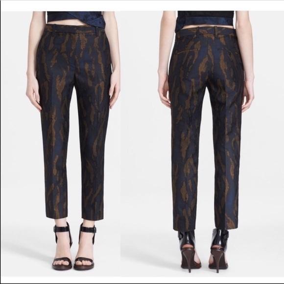 3.1 Phillip Lim Woodgrain Jacquard Crop Pants (A8)